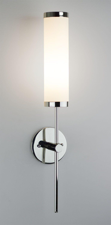 Linea Di Liara Presto Polished Chrome OneLight Wall Sconce Lamp - Chrome bathroom sconce with shade