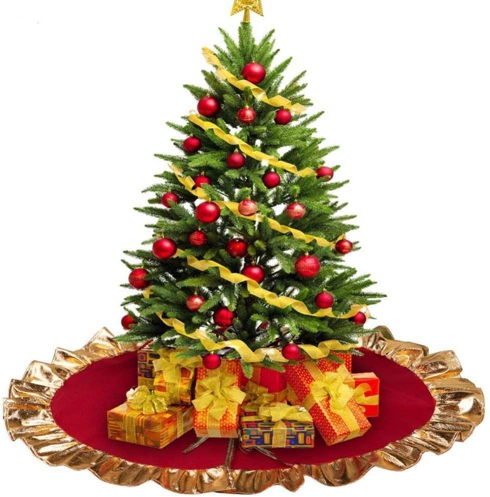 Gonna Albero di Natale,Tappetino Rotondo per Copertura Base Albero di Natale per la Festa di Natale,Decorazioni per Albero di Natale,Tappetino per Albero in Feltro Decorazioni per Feste 90 cm