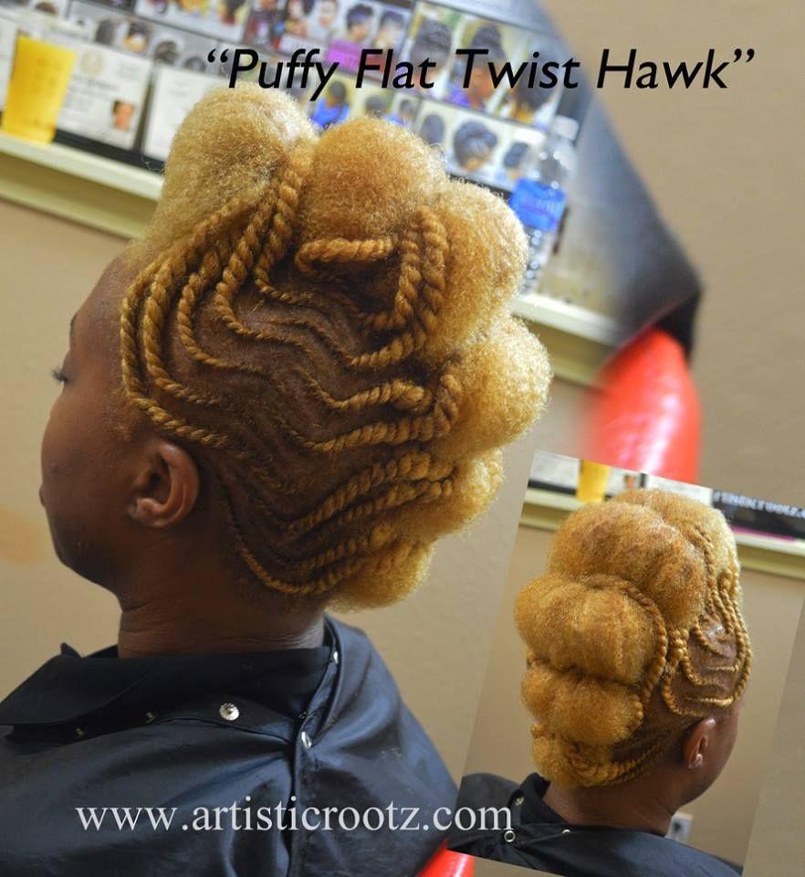 Fluffy flat twist hawk au naturale pinterest flat twist