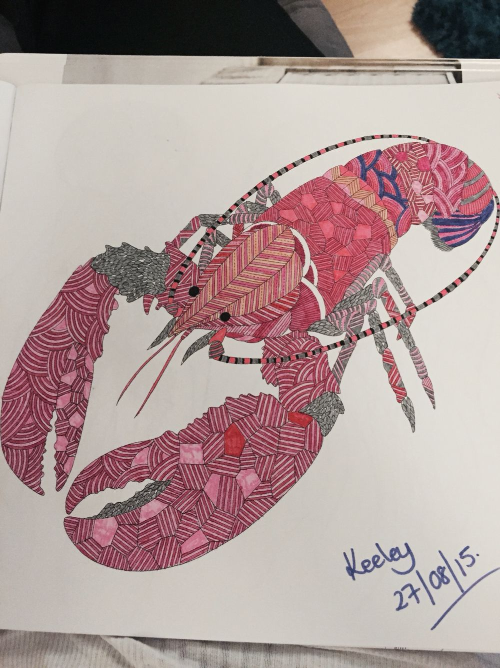 Lobster From Millie Marotta S Animal Kingdom Colouring Book Adult
