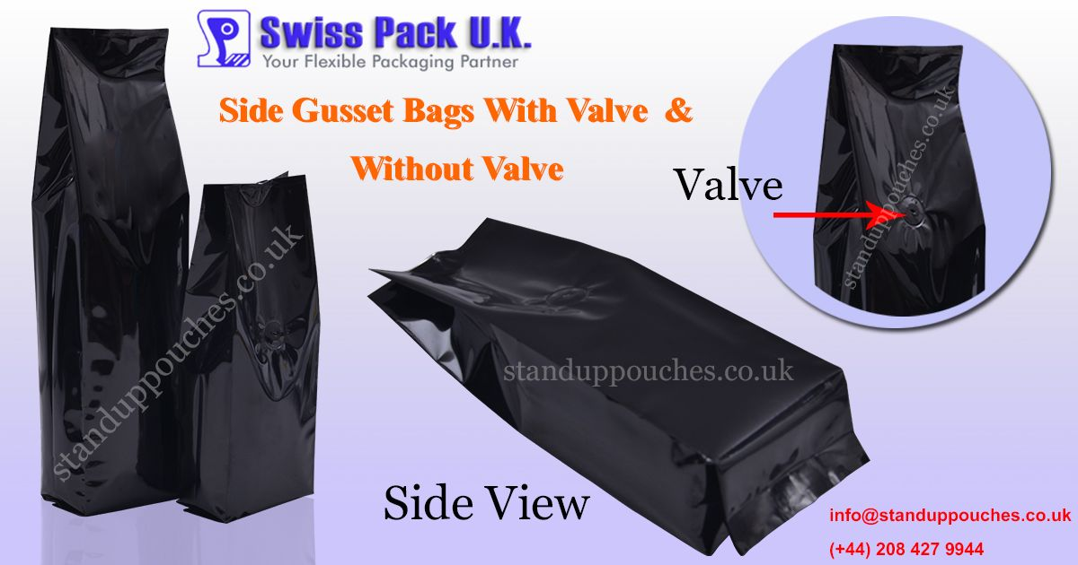 we are manufacturers of paper side gusset bags and plastic side