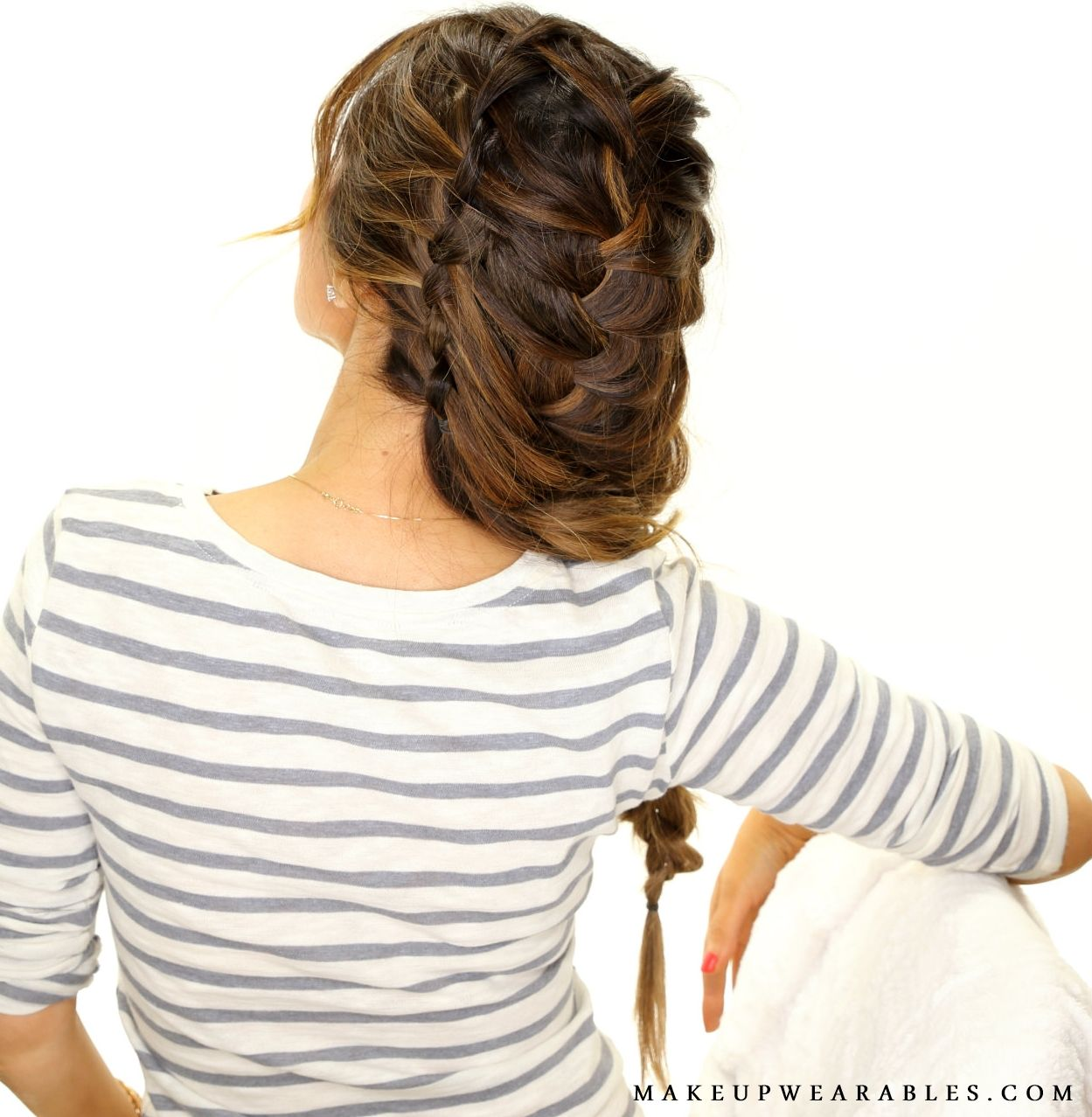 Waterfall Braid into a Big Messy French Braid Hairstyle | hair ...
