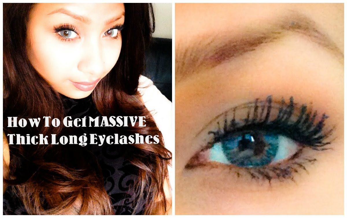 How to get massive long thick eyelashes with mascara