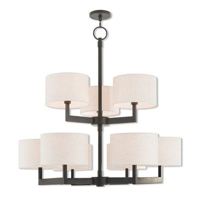 Zipcode Design Mai 9 Light Drum Chandelier Finish Br Products Pinterest And