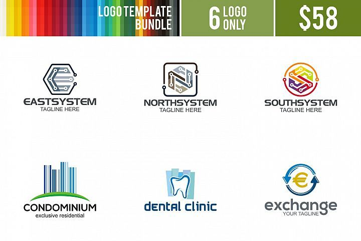 logo bundle 7 logos fonts and creative fonts