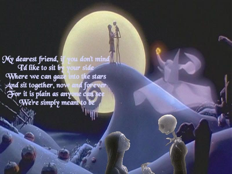 Jack and Sally's Song takes place at the end of Nightmare where ...