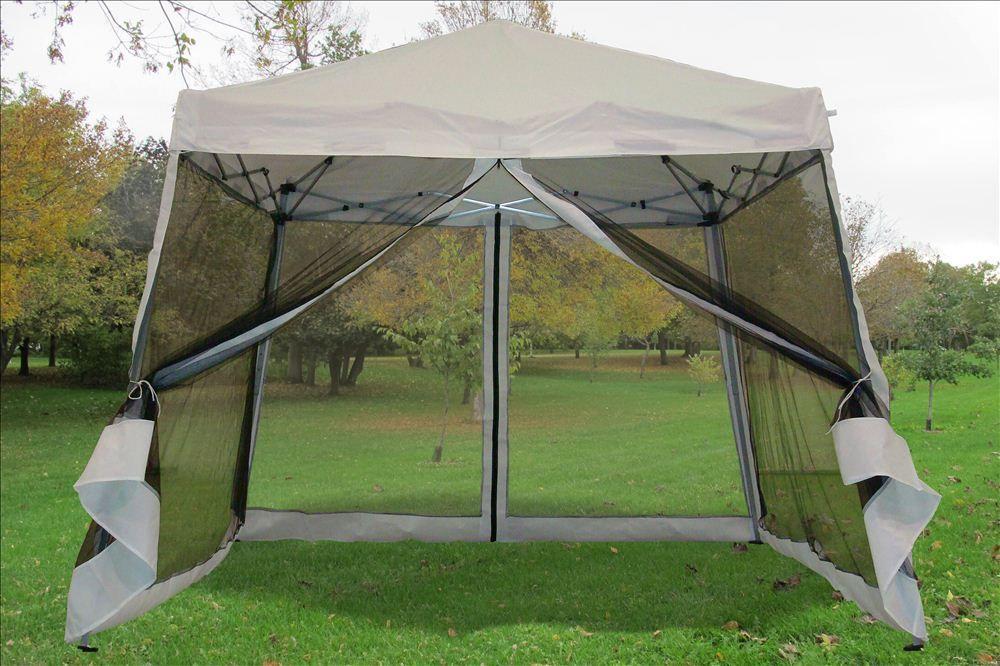 Details about 8u0027x8u0027/10u0027x10u0027 Pop Up Canopy Party Tent Gazebo EZ w Net - 6 Colors Available & Details about 8u0027x8u0027/10u0027x10u0027 Pop Up Canopy Party Tent Gazebo EZ w ...