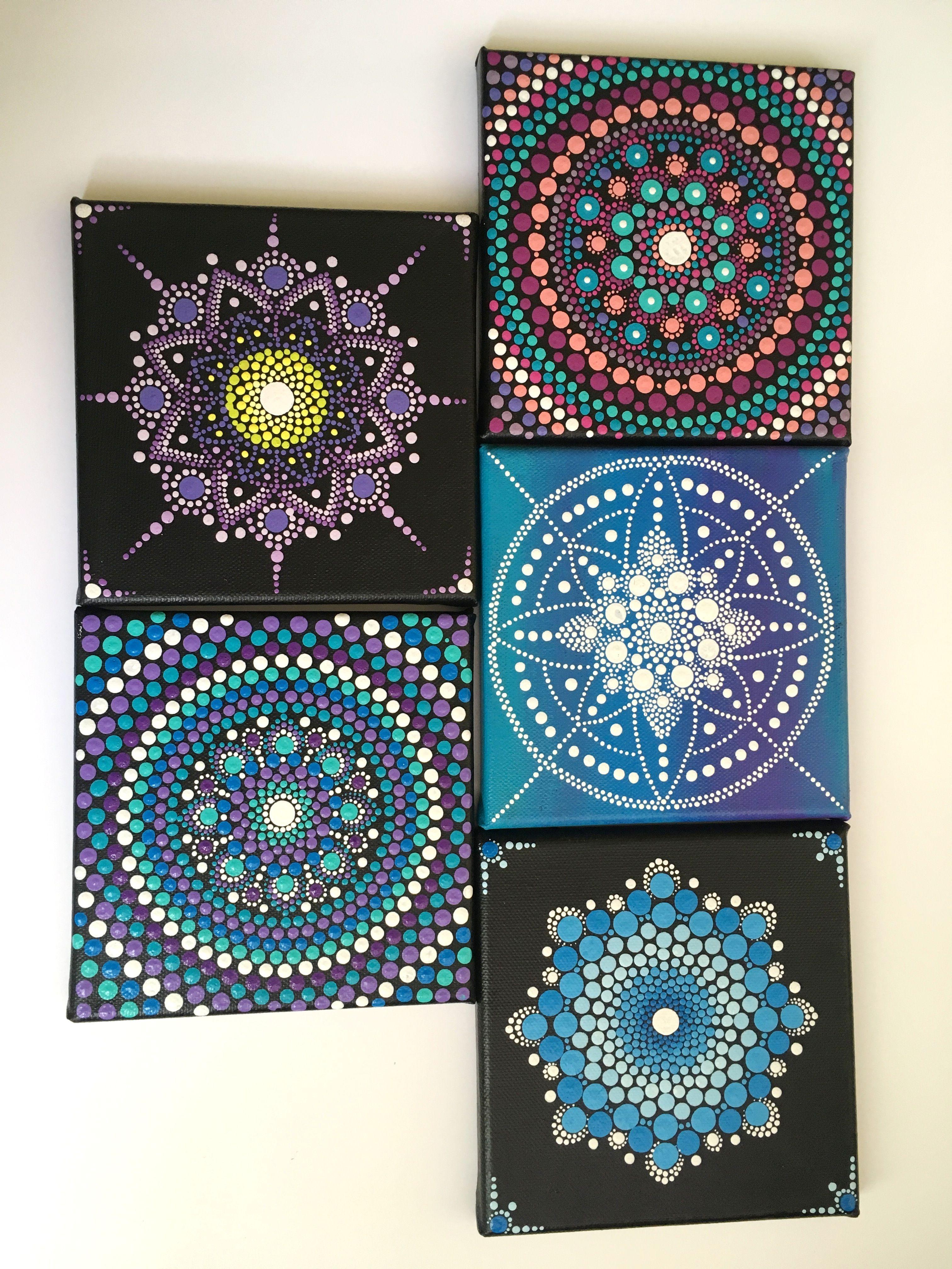 Mandala Canvas Set Set Colorful Art For Interior Simple