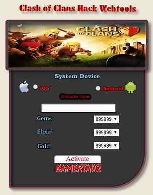 Clash of clans hack activation code generator