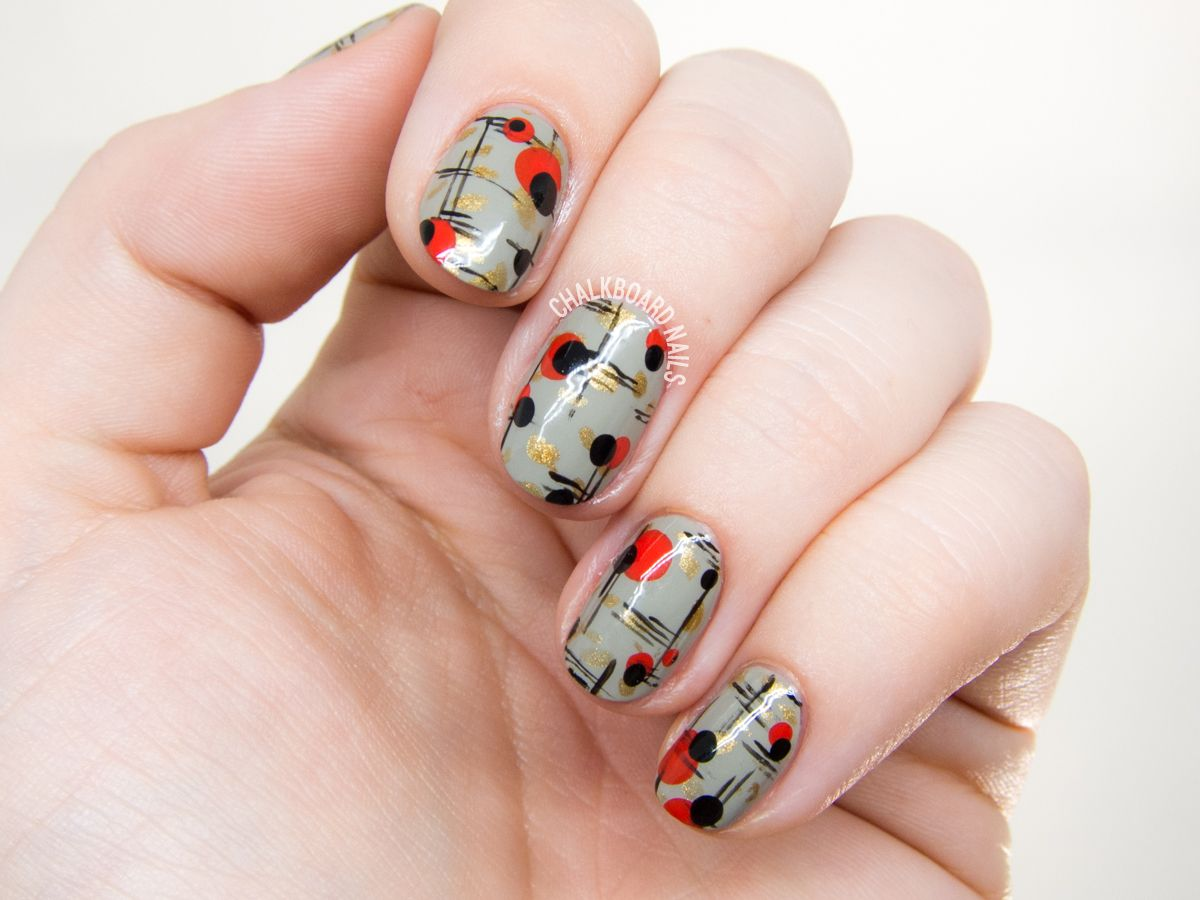 Mid century modern nail art by @chalkboardnails - Mid Century Modern Nail Art Modern Nails, Nail Stuff And Beauty