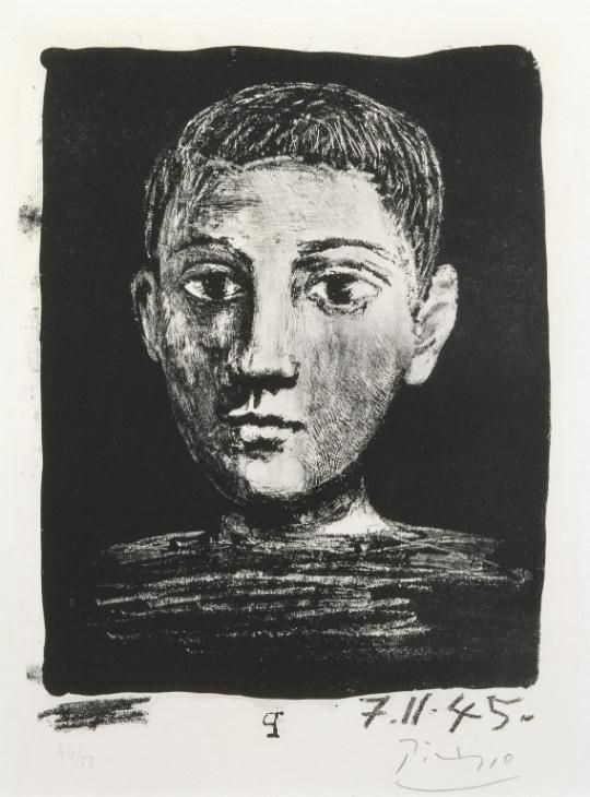 Pablo Picasso, 'Head of a Young Boy' 1945