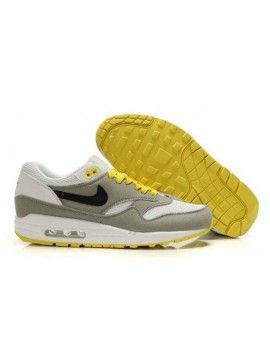 watch 43007 aa4be Nike Air Max 1 Men s Grey Black-Yellow
