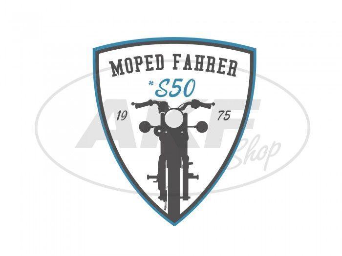 Aufkleber Moped Fahrer S50 Blauweißschwarz Wappen