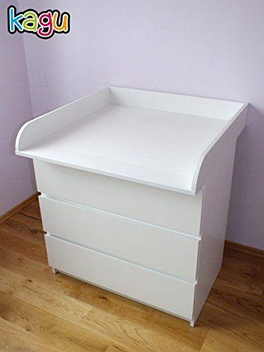 Cómoda Bordes Cambiador Ikea Con Redondeados De Malm Blanco Kagu T3lFKc1J