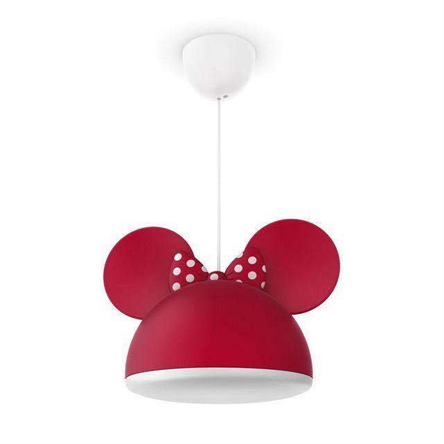 DISNEY Suspension Minnie Mouse Rouge ˜26cm Luminaire enfants