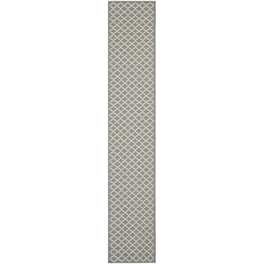 Safavieh Indoor/ Outdoor Courtyard Anthracite/ Beige Rug (2'3 x 20')