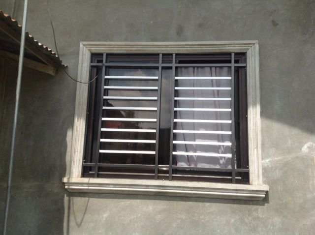 Right metal sizes for window grille pinoyhandyman do it for Window design metal