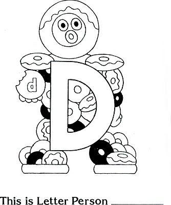 Letter People D Alphabet Coloring Pages Letter People Preschool Letters
