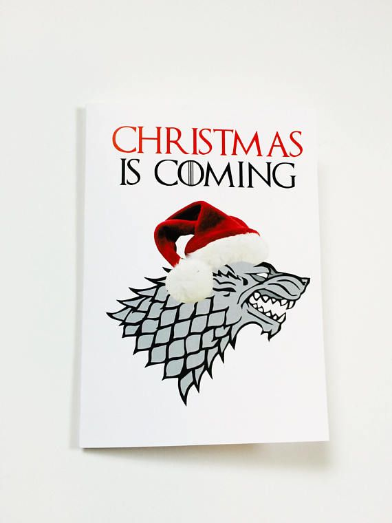 got christmas card chrismtas is coming dire wolf hilarious inappropriate greeting cards dysfunct pinterest dire wolf and products