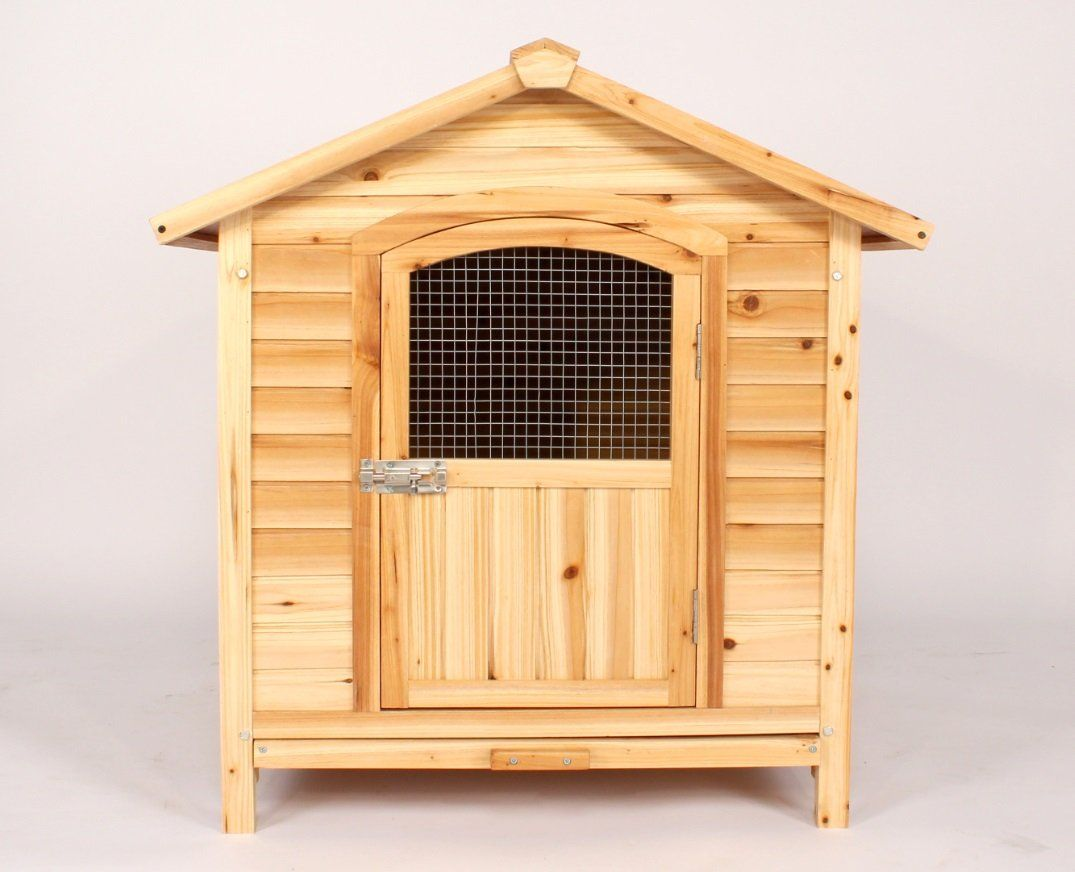 Dog Kennel Pet House Outdoor Solid Wood Hinged Waterproof