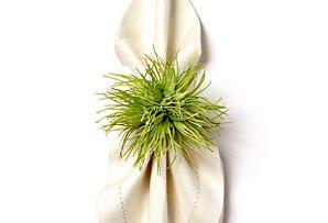 Wild Protea Napkin Ring, Green