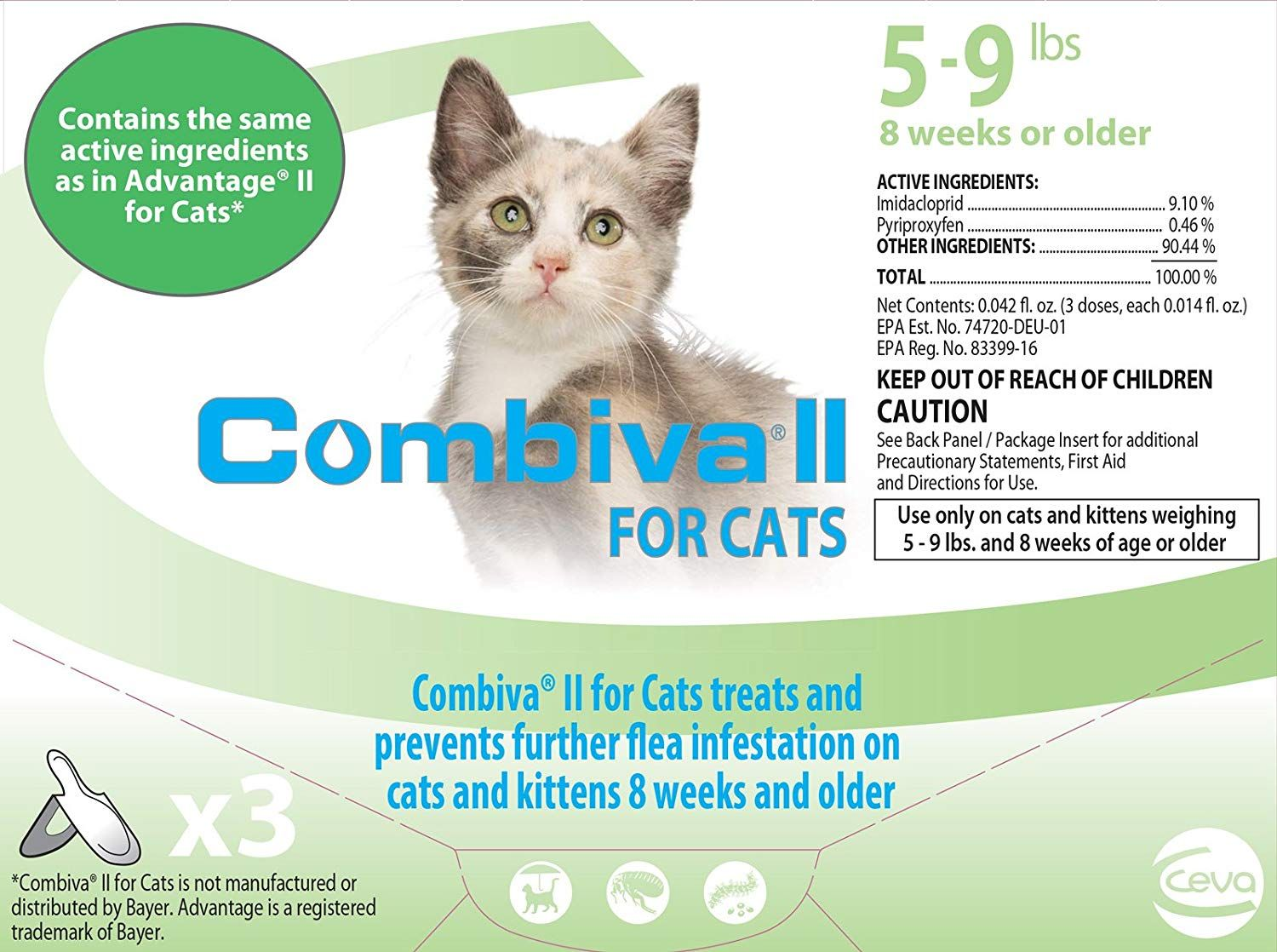 Combiva Ii For Cats 5 9 Lbs By Combiva We Do Hope You Like Our Photo This Is Our Affiliate Link Catfleaandtickcontrol Cats Fleas Flea Treatment