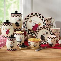 Bon Appétit Dinnerware Set and Canister Set