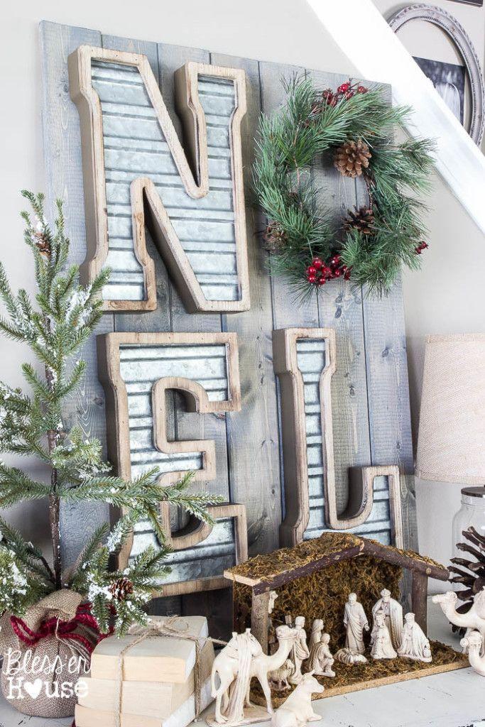 25+ Farmhouse Inspired Christmas Decor Ideas | The Crafting Nook by Titicrafty & 25+ Farmhouse Inspired Christmas Decor Ideas | Pinterest | Christmas ...