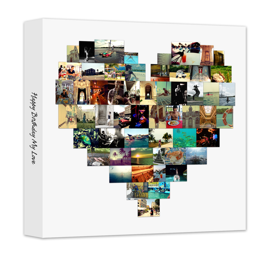 Heart Shaped Collage Canvas Print Very Nice Pretty Up The Home