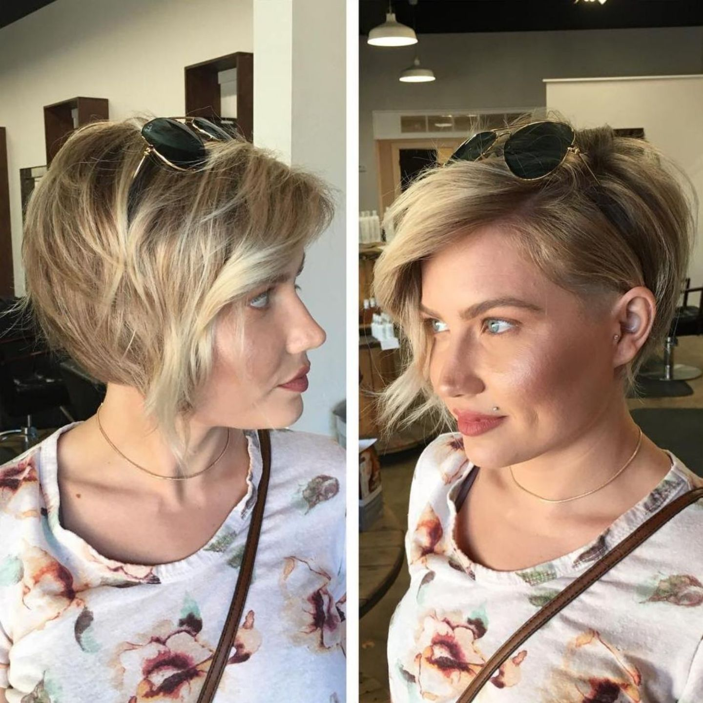 Asymmetrical Blonde Pixie For Thin Hair | Hairstyles for round faces, Thick hair styles, Short ...