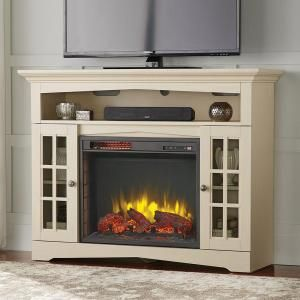 Home Decorators Collection Avondale Grove 48 In Media Console Infrared Electric Fireplace Fireplace Entertainment Fireplace Tv Stand Stone Electric Fireplace