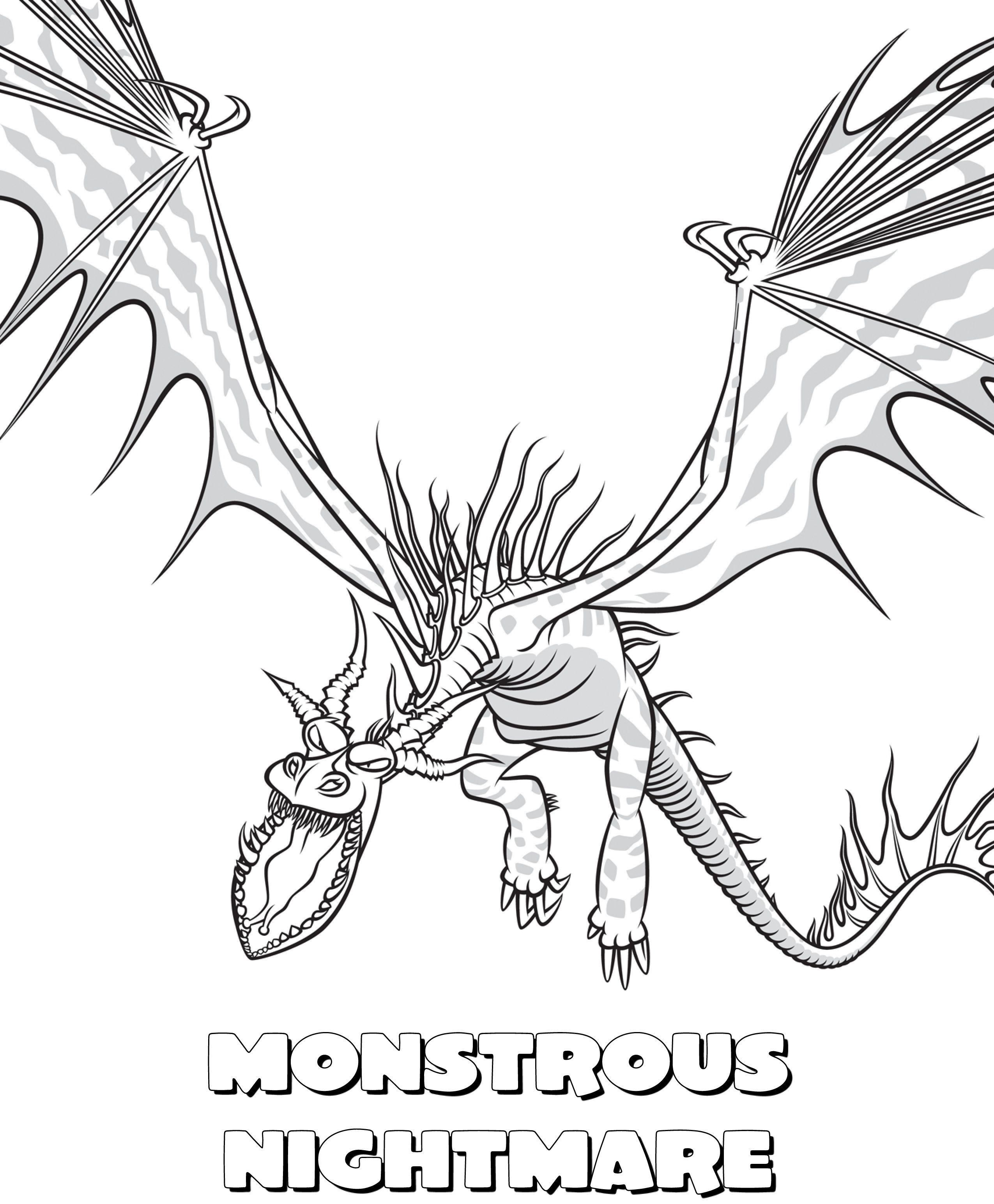 Monstrous Nightmare Jpg 2550 3088 Entrenando A Tu Dragon Como Entrenar A Tu Dragon Dragones