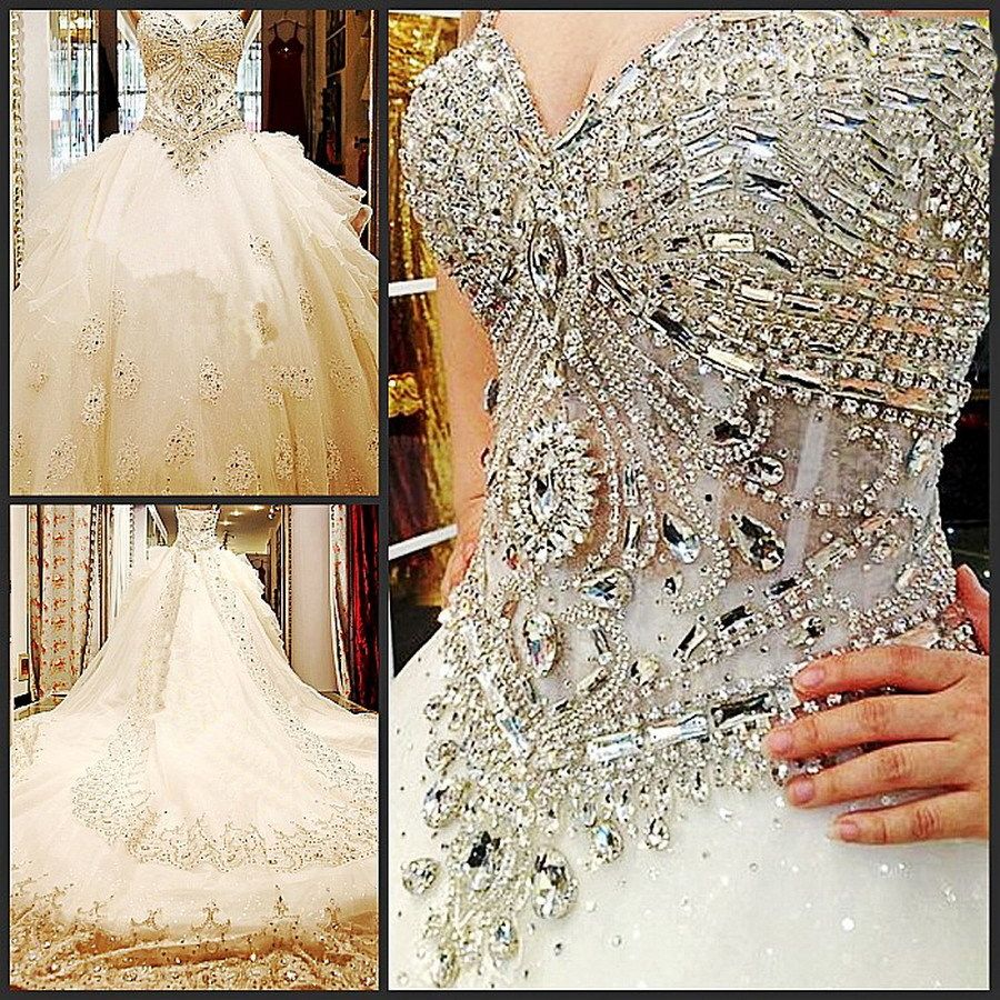 Big Promotion Real Sample White Mermaid Strapless Embroidery Rhinestone  Tulle B… | Ball gowns wedding, Strapless wedding dress sweetheart, Wedding  dresses strapless