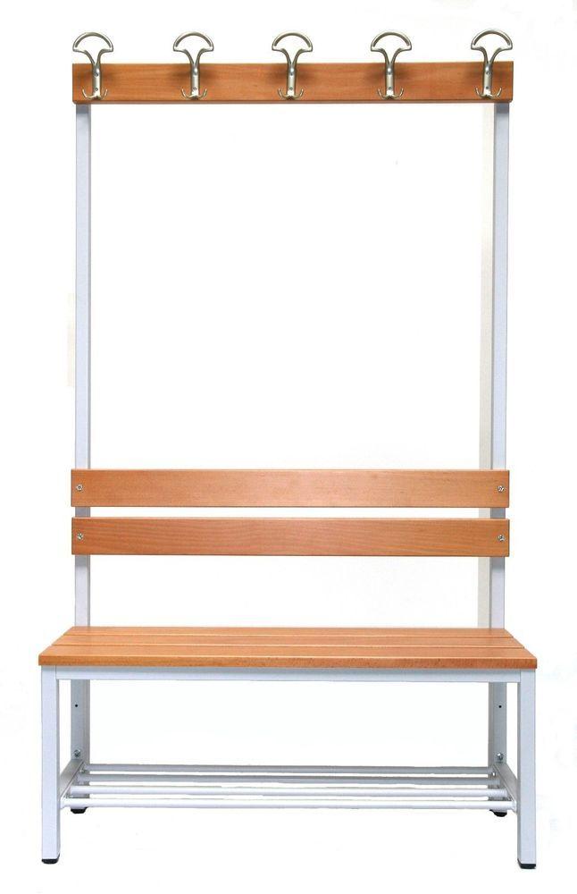 Details zu Garderobe + Sitzbank + Schuhrost BxHxT: 100x170x30 cm ...