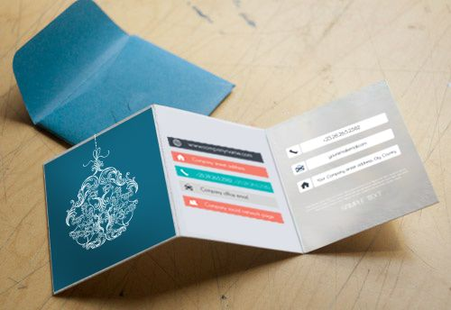 Folded business cards are relatively unusual and because of this they instantly demand attention