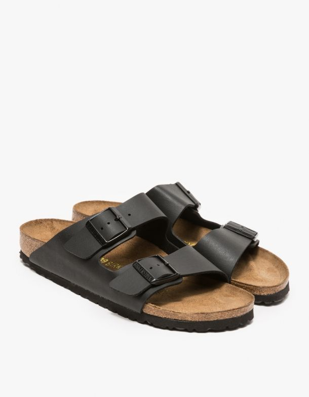 Birkenstock  Arizona in Black Black Strappy ShoesBlack