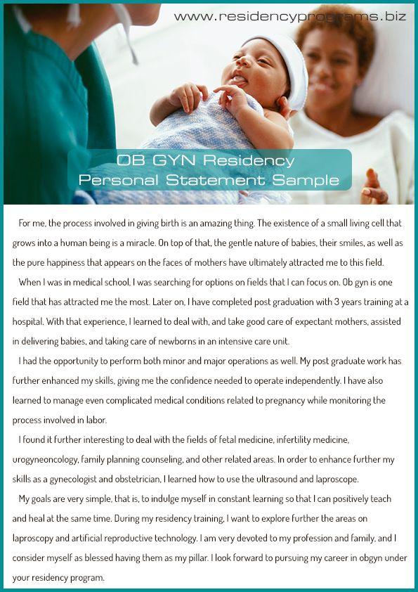 good-ob-gyn-residency-personal-statement   Residency programs ...