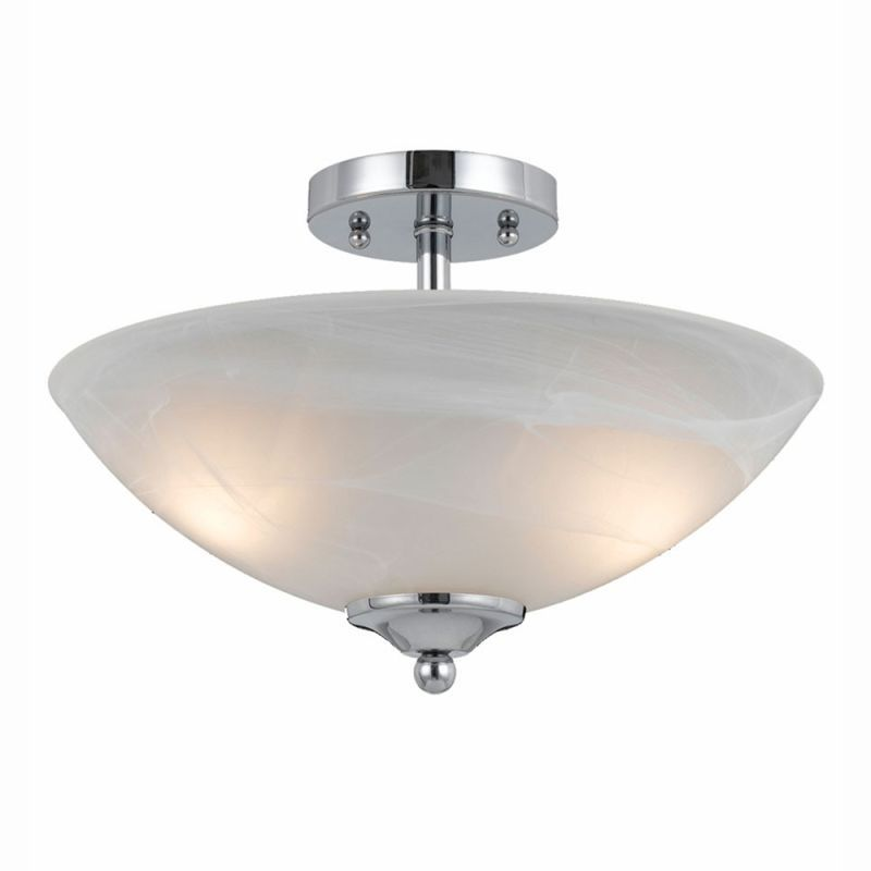 Lumenno Transitional 2-light Chrome Plated Semi Flush Mount