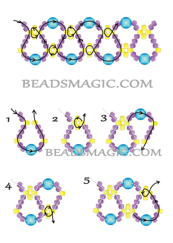free-beading-tutorial-necklace-pattern-21.jpg (1100×1540) | diseños ...