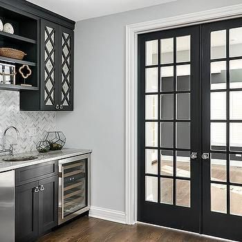 Best Black Mirrored Pantry Cabinets With Black Shelves In 2019 640 x 480