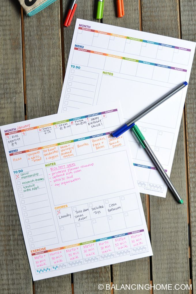 Printable Planner Weekly Template Projects Tips Tricks
