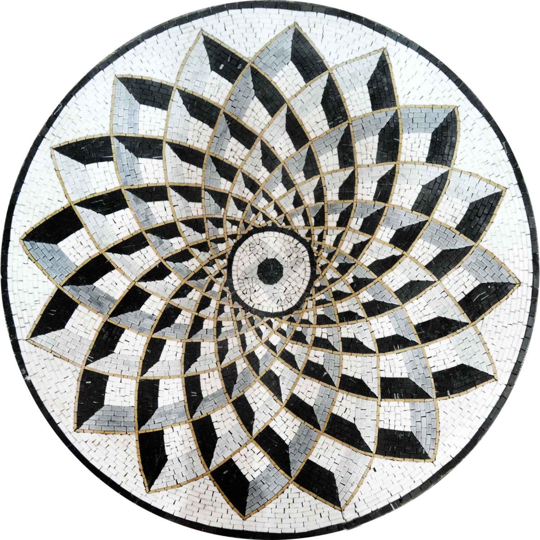 Marvelous Stone Mosaic Art Tile Design Medallion For Floor, Tabletop,