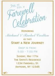 wording for farewell invitation