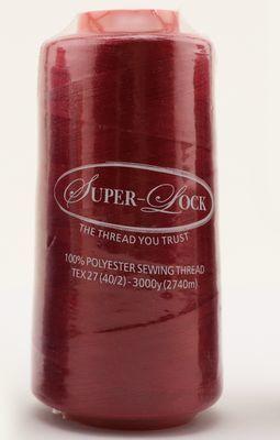 Super-Lock - Serger Thread - Polyester - 3000 yds - Scarlet