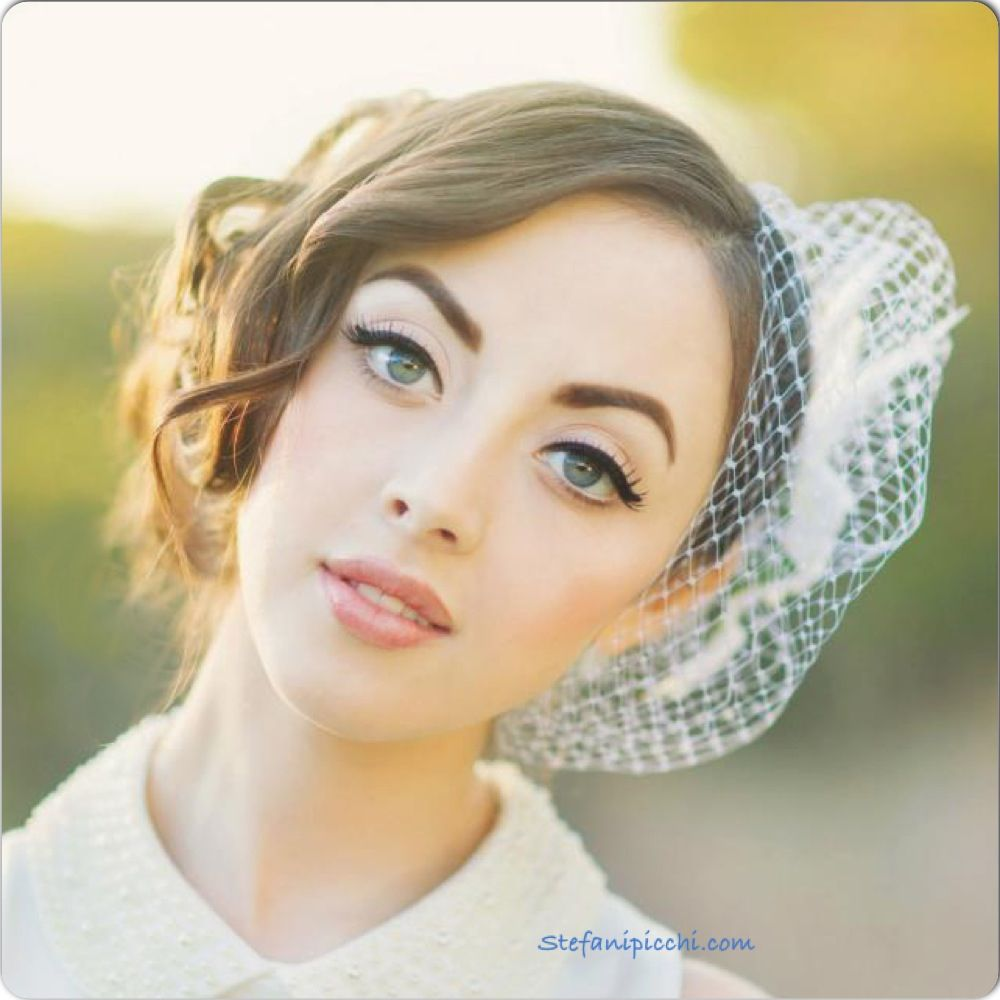 Bride, Rebecca! Vintage Bride. Bridal Hair. Bridal Makeup