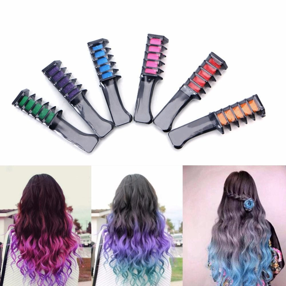 Temporary hair chalk dye powder with comb salon hair mascara crayons temporary hair chalk dye powder with comb salon hair mascara crayons home diy solutioingenieria Image collections