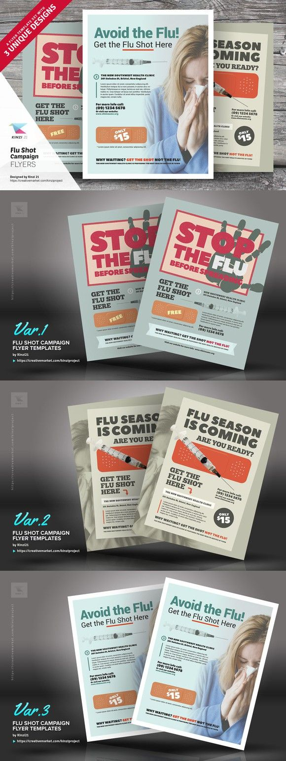 Flu Shot Campaign Flyer Templates  Flyer Templates