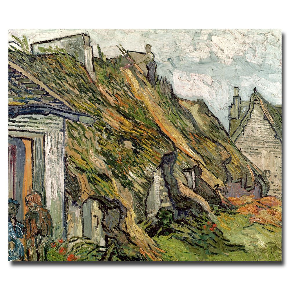 Trademark Fine Art Vincent van Gogh 'Cottages in Chaponval, Auvers-sur-Oise' Horizontal