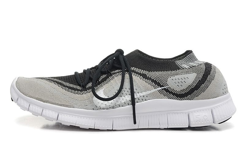 nike free flyknit 5.0 black and white photography