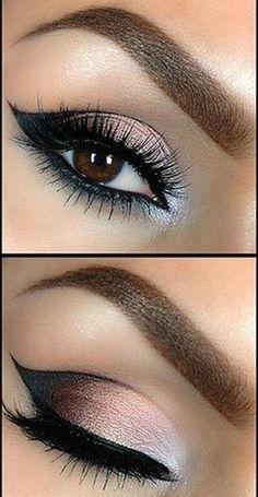 Tutorial: Beautiful Smokey Eye Makeup gente.. olha que linha fininha de delineador..Será que a gente consegue? vamos fazer?
